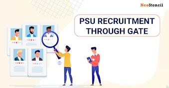 PSU Recruitment through GATE 2020