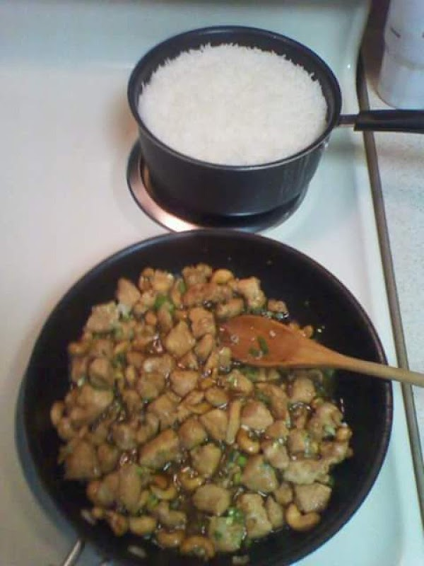 Garnish with green onions and serve over jasmine rice