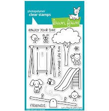 Lawn Fawn Clear Stamps 4X6 - Lets Play