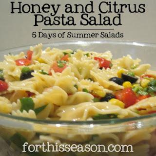 Honey & Citrus Pasta Salad (Dairy Free Recipe)