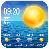 Weather Report Widget for android phone Icon