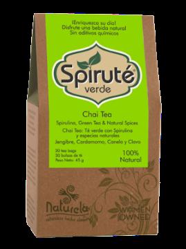 Té Naturela Spiruté   Verde Chai Tea Caja X30Bol.