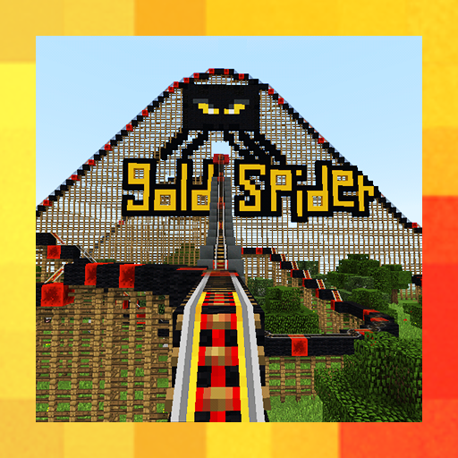 Spider Mega Roller Coaster. Map for MCPE