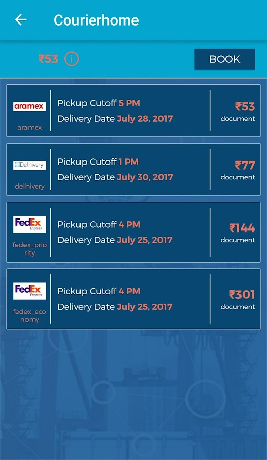 Home Pickup Courier, Fast and Best Rate Courier- screenshot