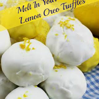 Melt In Your Mouth Lemon Oreo Truffles