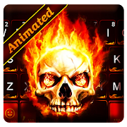 App Live Fire Skull Keyboard Theme APK for Windows Phone