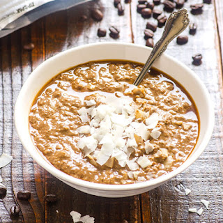 Caffe Mocha Protein Overnight Oatmeal.