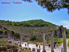 Photo: Ephesos, Theatre at the end of the Road to the harbor