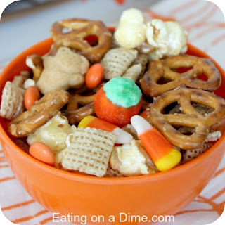 Kid Friendly Halloween Snack Mix