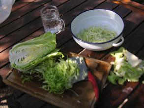 Photo: Küchenarbeit im Garten
