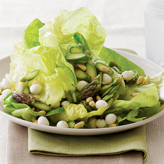 Asparagus and Butterhead Lettuce Salad.