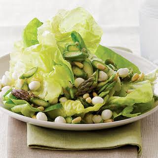 Asparagus and Butterhead Lettuce Salad.