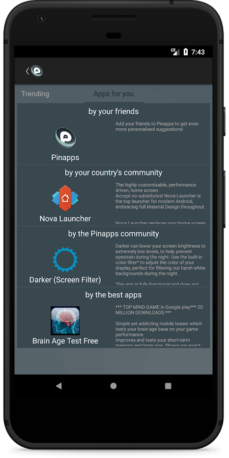 Pinapps - social app discovery- screenshot