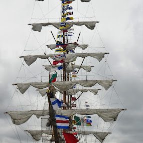 Mexican Ship in New London, Ct by Corinne Hall - Transportation Boats (  )