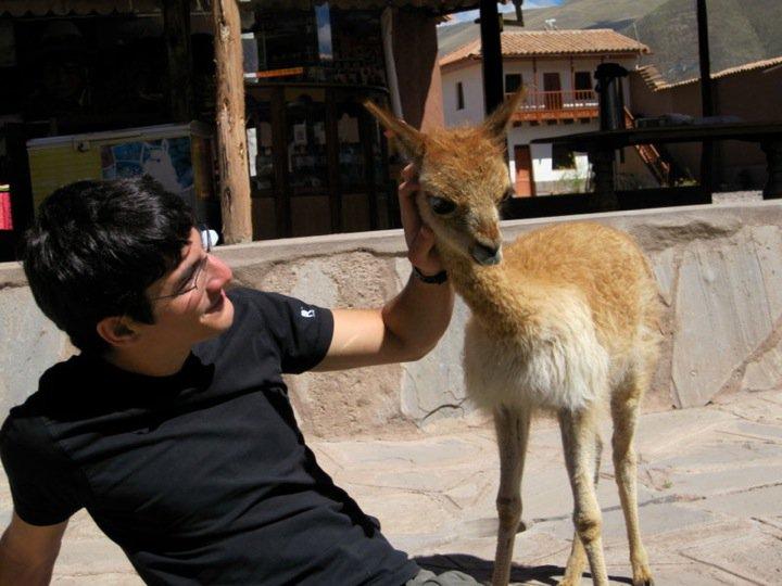Photo: Kickin' a llama's ass in Peru <3 So adorable