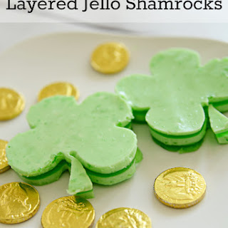 Layered Jello Shamrocks
