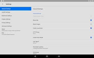 screenshot of Rocket Browser