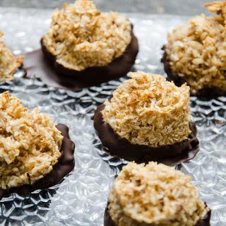Maple Macaroons Dipped in Chocolate Recipe