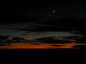 Photo: Moon before sunrise