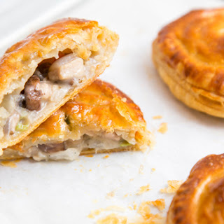 Mushroom and Chicken Hand Pies