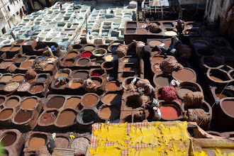 Photo: One of five Fes tanneries - the smell really isn't that bad!