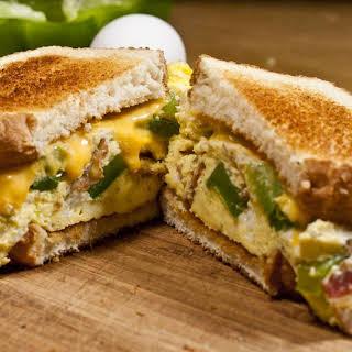 Microwave Omelette Sandwich.