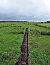 Photo: Tranchée pour l'irrigation