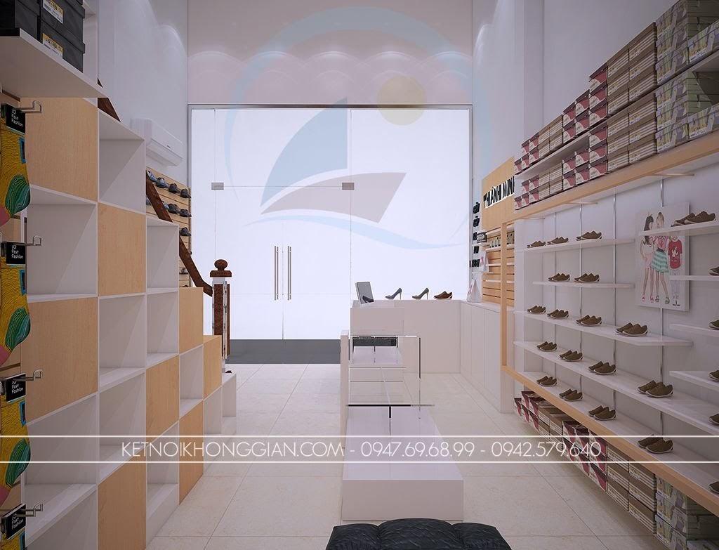 thiết kế shop giày dép khác biệt
