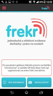 Frekr - evidence docházky - náhled