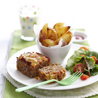 Mini Meatloaves with Potato Wedges
