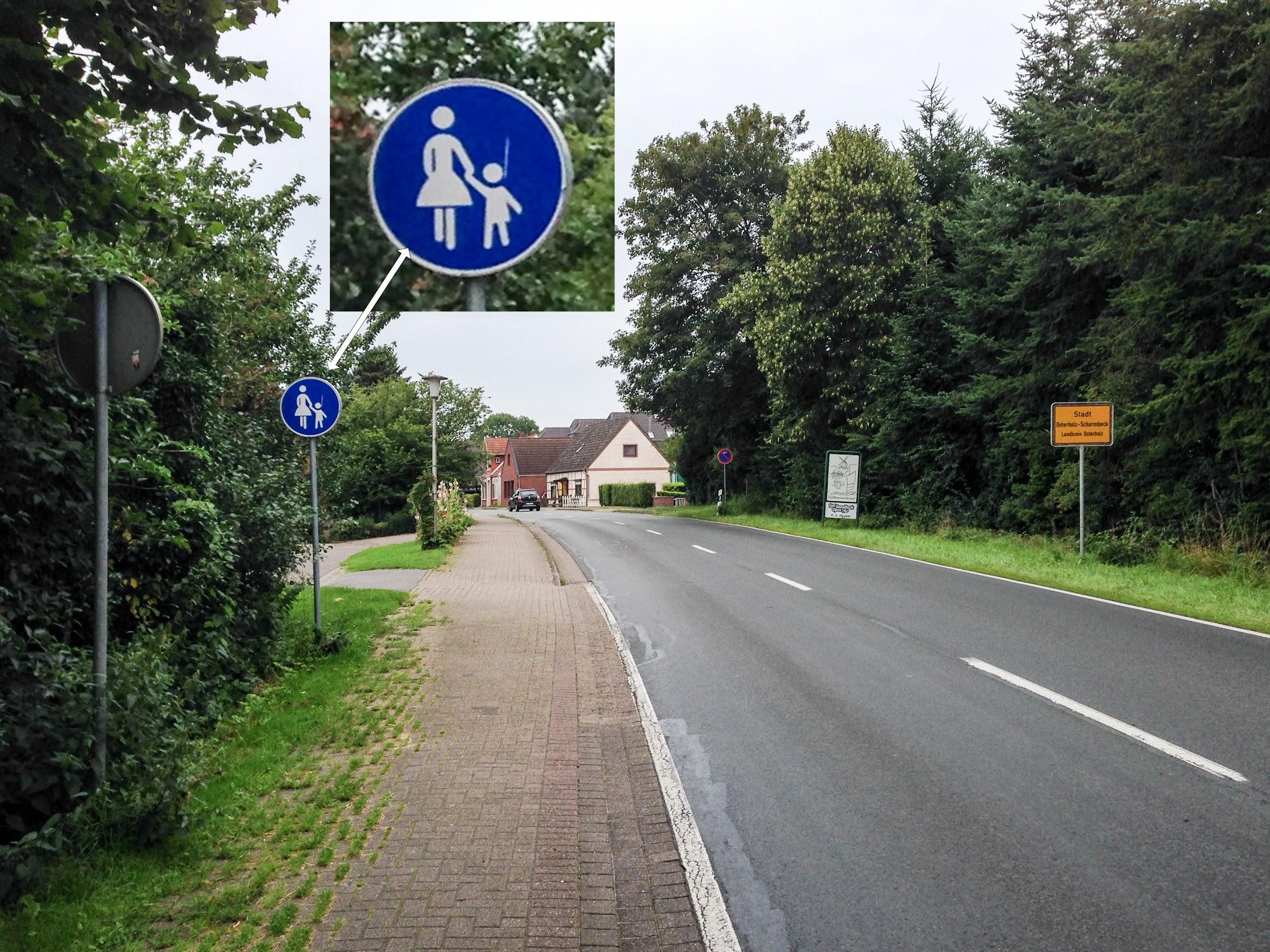 Radweg endet