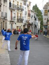 Photo: pelota on the plaza mayor in Sella - Alicante