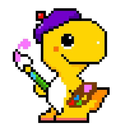 Dino Fun - Color By Numer