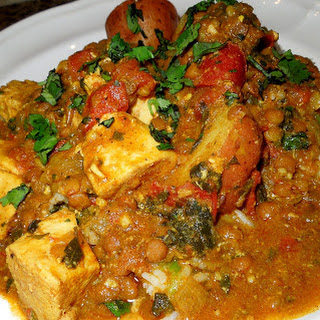 Curried Chicken and Lentils with Basmati Rice Recipe
