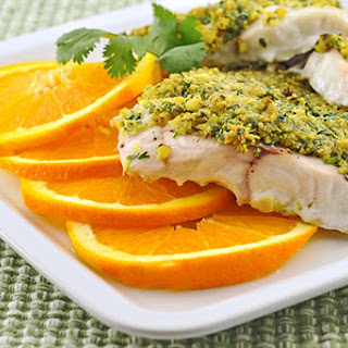Baked Grouper with Citrus-Cilantro Crumb Topping