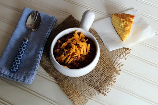 Top with shredded cheddar cheese. Serve with my cornbread recipe or your favorite cornbread,...