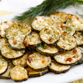 Parmesan-Ranch Oven-Baked Zucchini Coins.