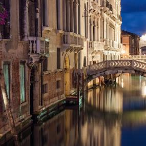 Venice by Sabina Kos - City,  Street & Park  Night (  )