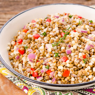 Lemony Couscous Lentil Salad