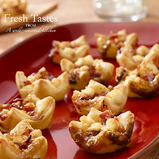 Prosciutto, Fig & Goat Cheese Tarts.