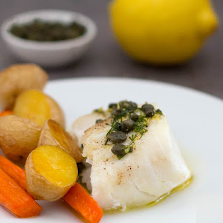 Fish with Lemon Caper Sauce.
