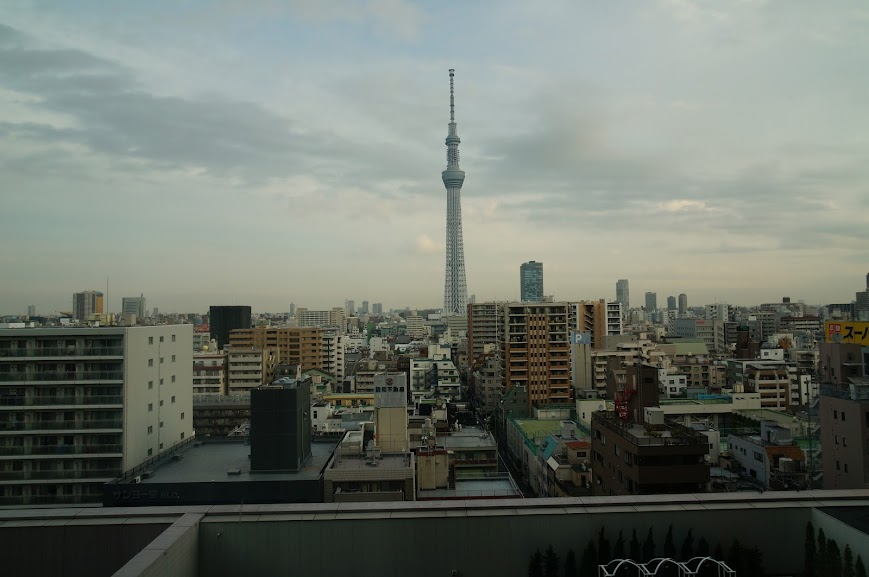 View of the Tokyo Skytree from the hotel window