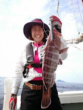 Photo: 「おほほ!」 高級魚のタカバキャッチです!