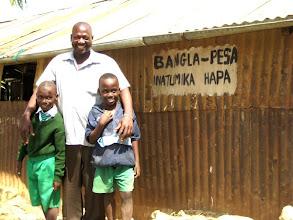 Photo: Primary school headmaster and pupils