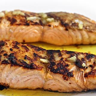 Skinny Honey Glazed Salmon with Lemon Butter Sauce.