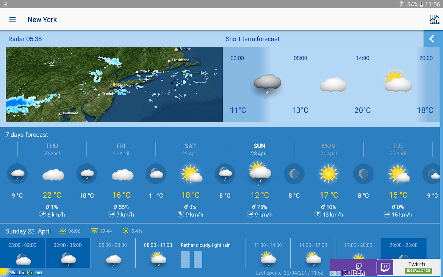 WeatherPro Free- screenshot