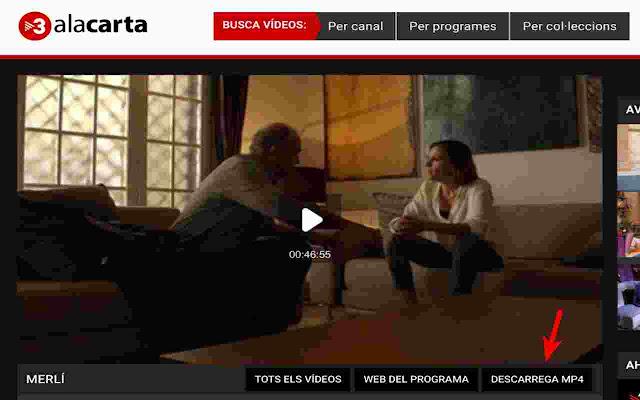 TV3 descàrrega vídeos