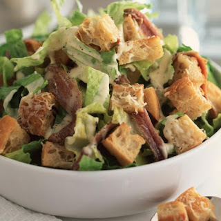 Caesar Salad with Parmesan Croutons.