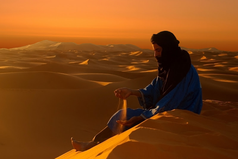 Il beduino nel deserto - Marocco di BASTET-Clara