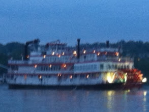 Photo: its so nice out now, on the water last night passing BB Riverboat